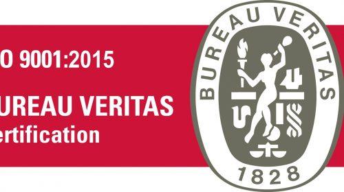 Voici le logo de la certification ISO 9001:2015