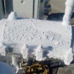 Autre tuyau basse température pris par le gel